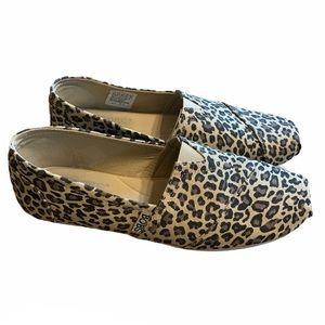 BOBS Leopard Print Memory Foam Slip On Shoes
